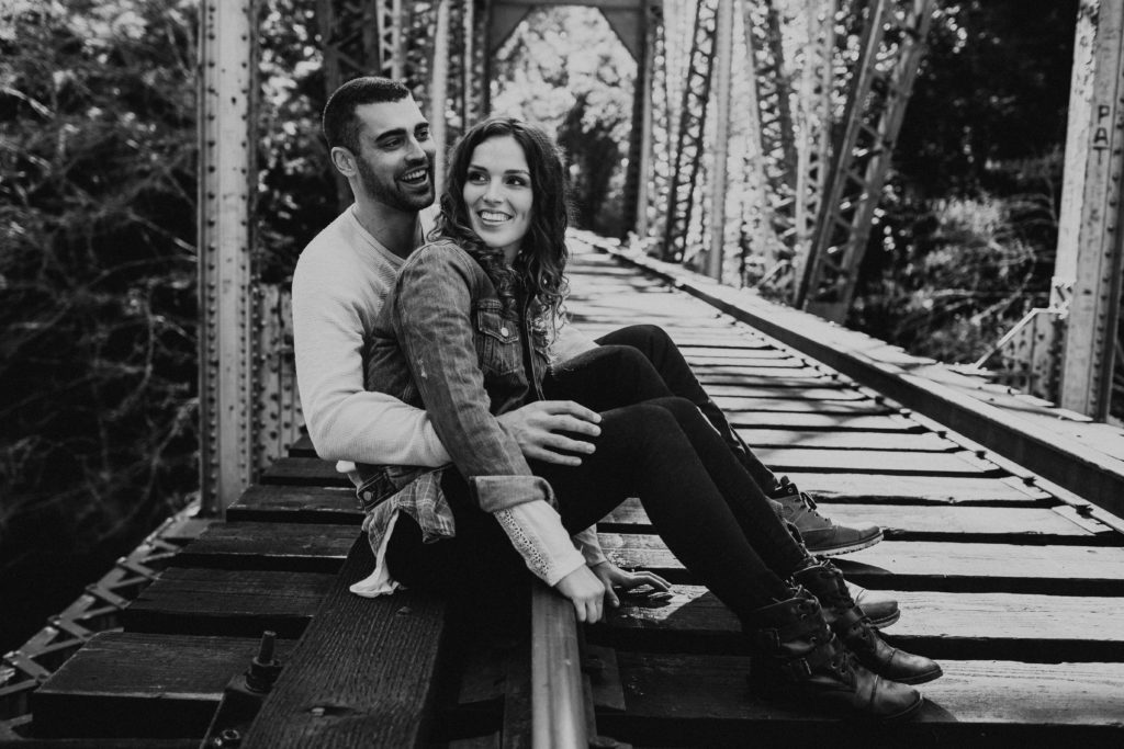 couple's engagement photography session in santa cruz at henry cowell redwoods state park and wilder ranch by Kadi Tobin