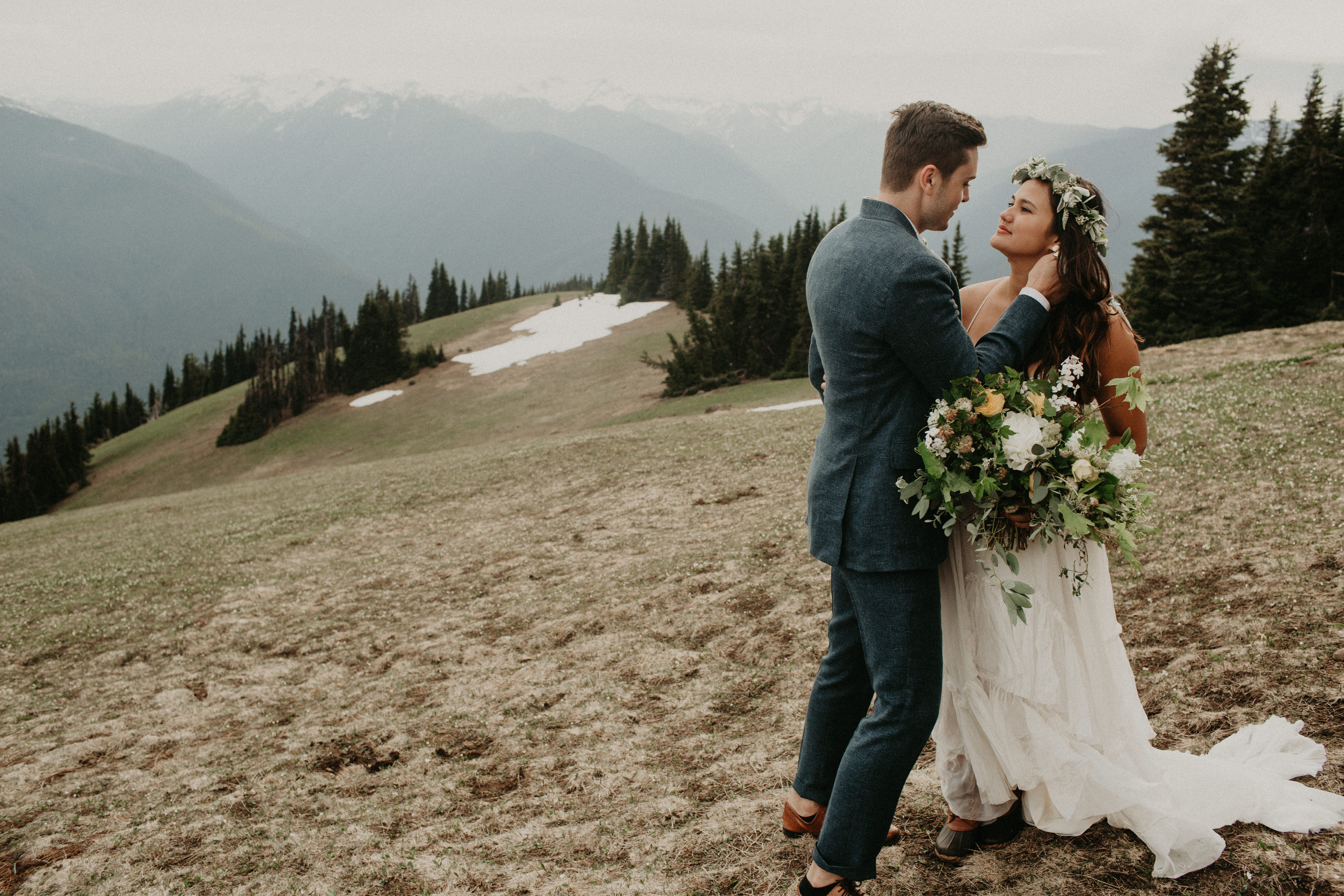 A wild and adventurous wedding at Hurricane Ridge in Olympic National Park by Kadi Tobin