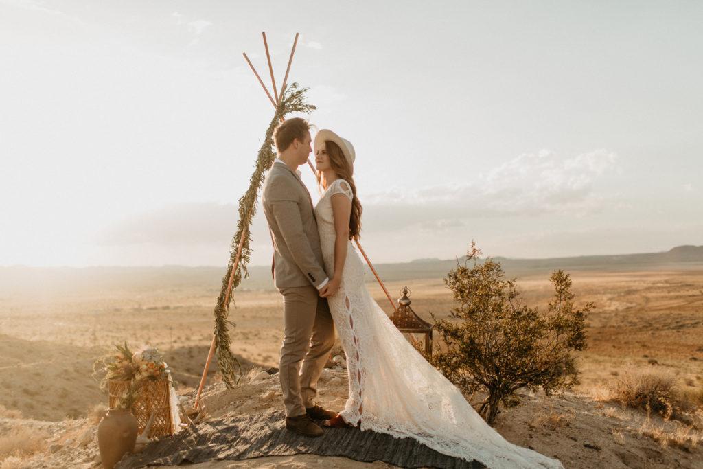 Western Bohemian wedding inspiration in Joshua Tree by Kadi Tobin