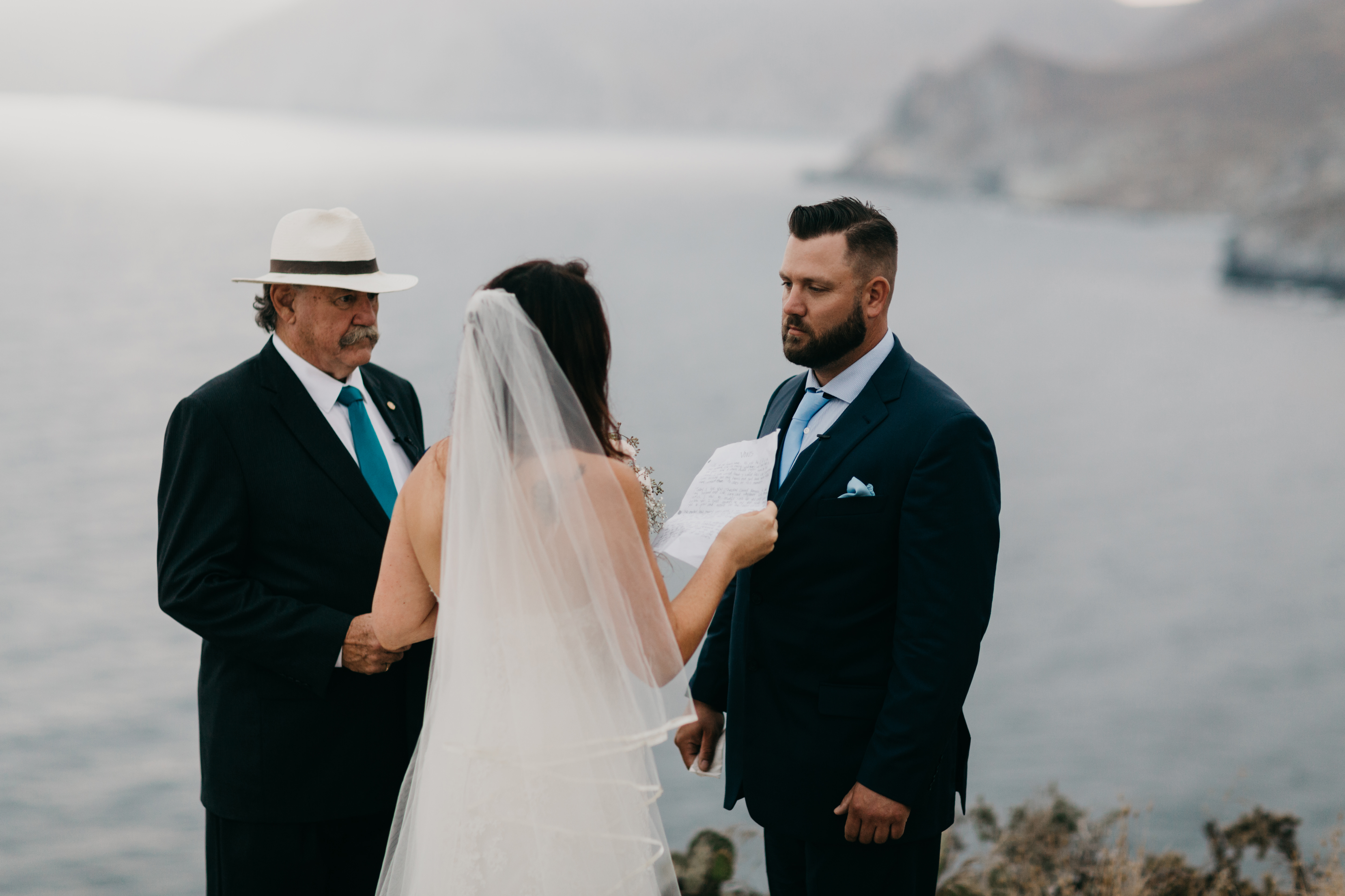 Romantic and Inspirational Catalina Island Elopement on the remote side of the island shark harbor