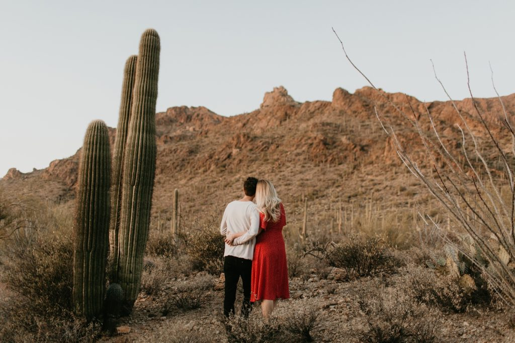 Tucson Arizona Saguaro National Park Engagement Session
