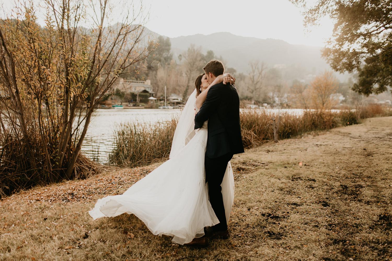 The Lodge at Malibou lake wedding