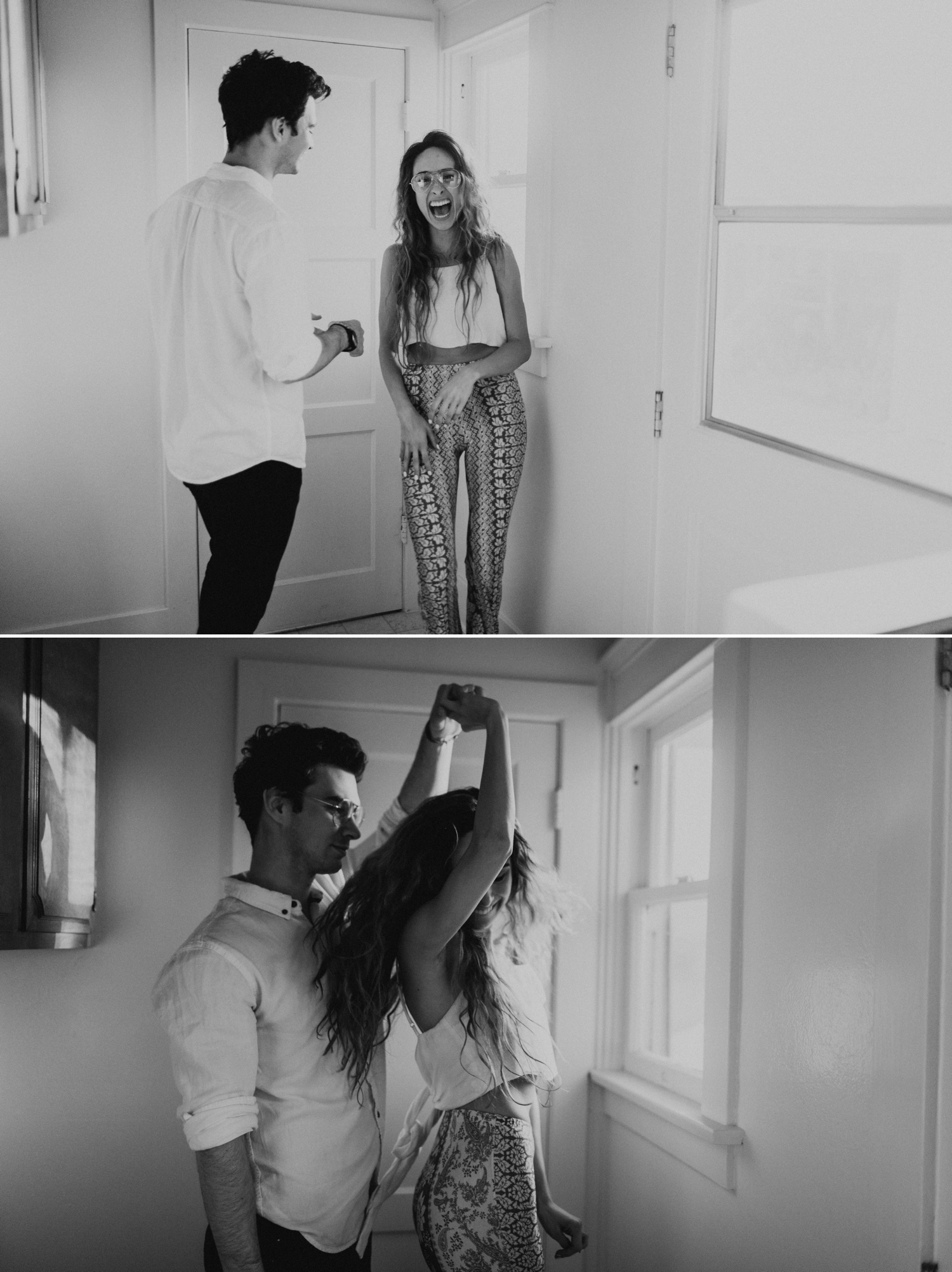 A In home engagement session in los angeles by Kadi Tobin, a los angeles wedding photographer