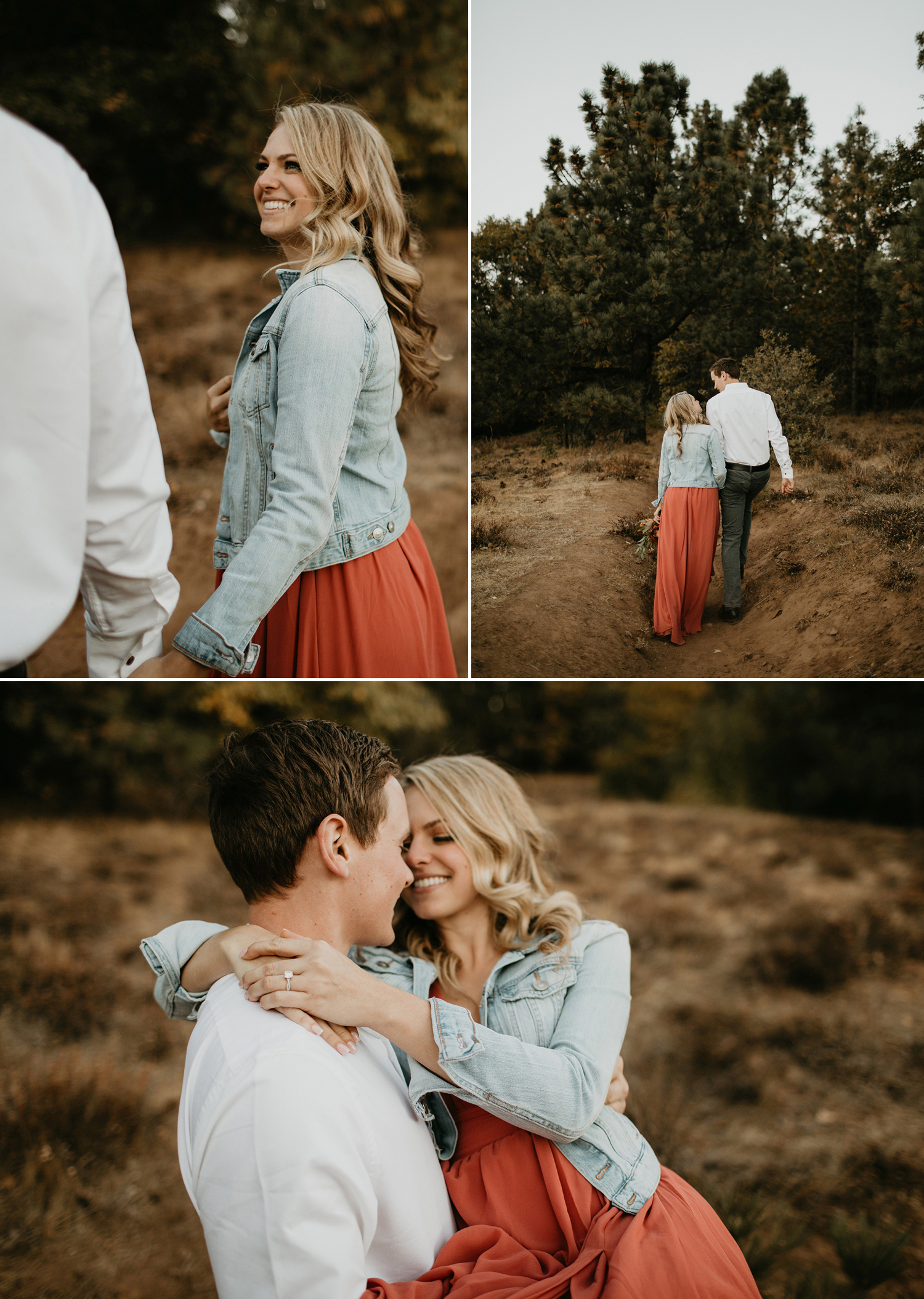 Adorable Fall Engagement Session in the mountains of Julian California