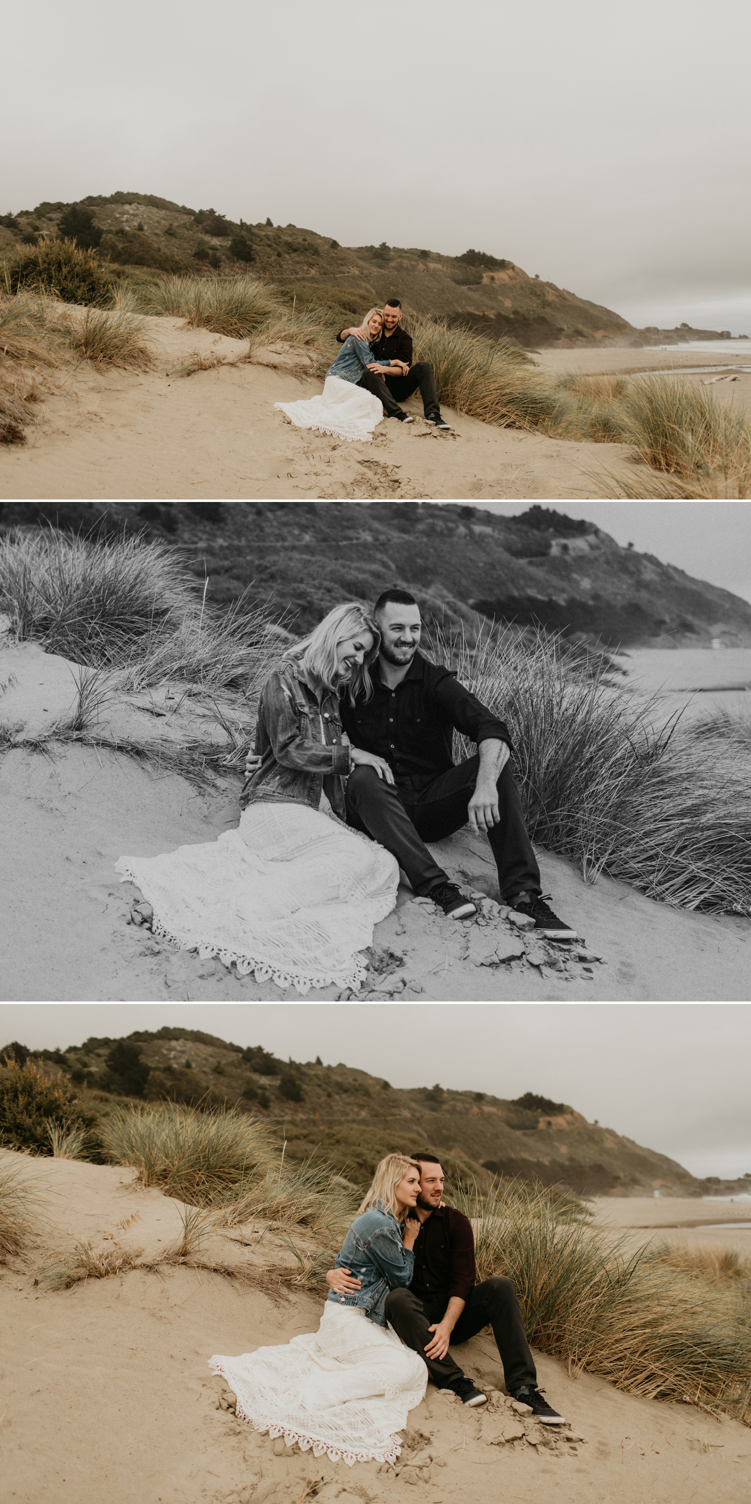 Marin County beach engagement